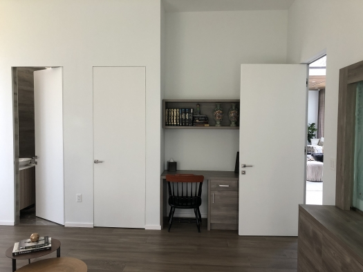 White contemporary doors as the best decoration for your home or office