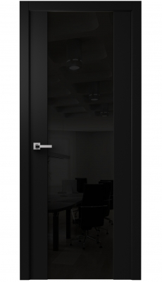 Vento Interior Door Diablo Black / Black Glass