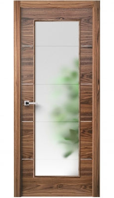 Versa Vetro Interior Door American Walnut