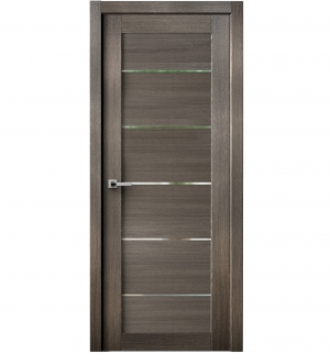 Tia Interior Door Gray Chestnut