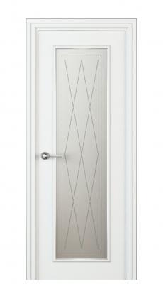 Radicosa Vetro Interior Door Italian Enamel White