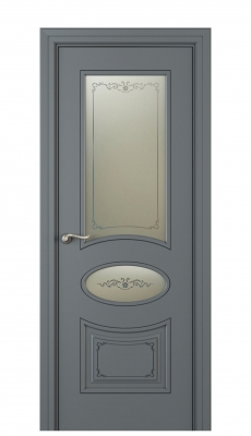 Amelia Vetro Duo Interior Door Italian Enamel 7011