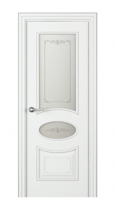 Amelia Vetro Duo Interior Door Italian Enamel White