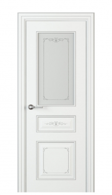 Fabrizia Vetro Interior Door Italian Enamel White