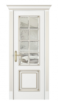 Parma Parte Interior Door Italian Enamel White Beveled Glass