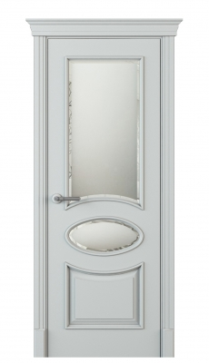 Formazza Vetro Duo Interior Door Italian Enamel 7035