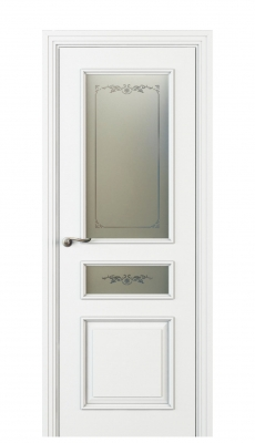 Fellini Vetro Duo Interior Door Italian Enamel White