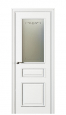 Fellini Vetro Interior Door Italian Enamel White
