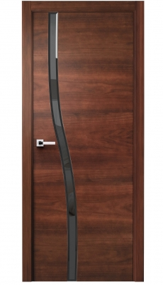 Carmenta Vetro Interior Door American Walnut Stained