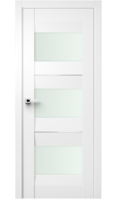 Fiera Interior Door Soft Touch White/ Frosted Glass