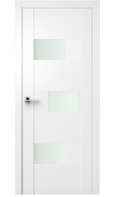 Fortika Vetro Interior Door Soft Touch White/ Frosted Glass