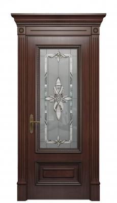 Imperia Vetro Interior Door Stained Oak