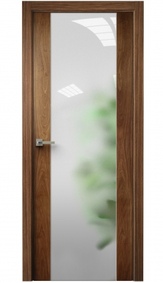 Vetra Interior Door American Walnut / Frosted Glass