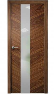Tera V Vetro Interior Door American Walnut
