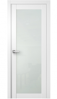 Nedovento Interior Door Polar White/ White Triplex Glass