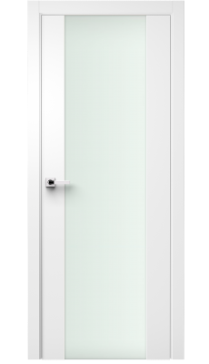 Vetra Interior Door Soft Touch White/ Frosted Glass