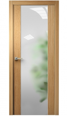 Vetra Interior Door Natural Oak / Frosted Glass