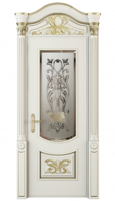 Vittoria Vetro Interior Door Royal White Oak