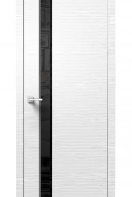 Image Dianto Interior Door 3D White / Black Beveled Glass 1
