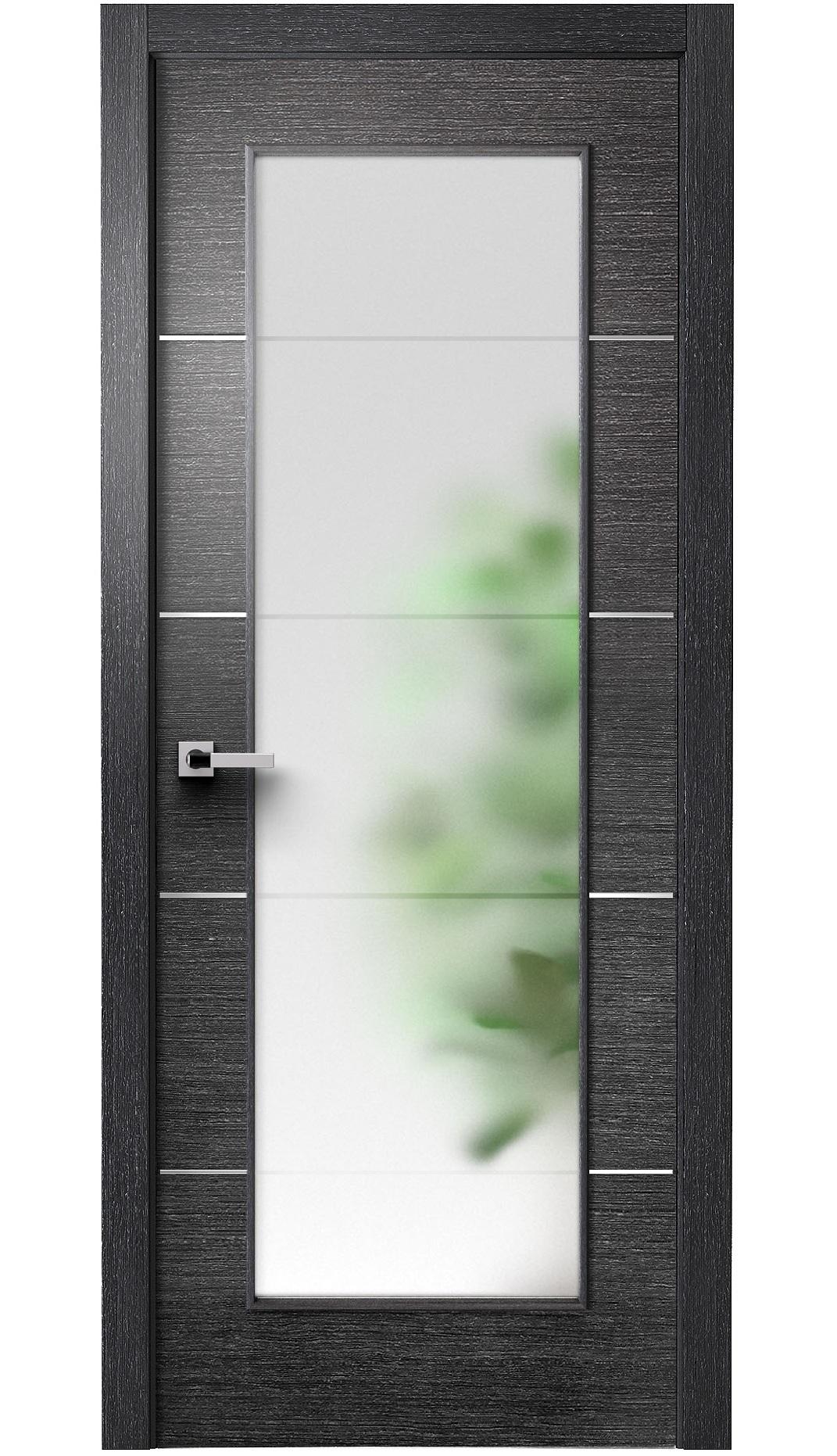 Image Versa Vetro Interior Door Black Apricot 0