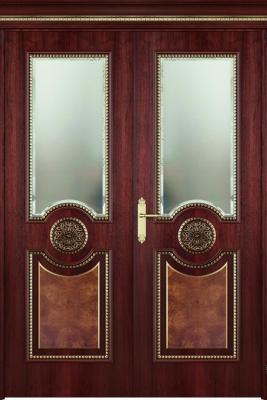 Image Alessandria Vetro Interior Door Stained Oak 2