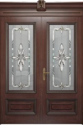 Image Imperia Vetro Interior Door Stained Oak 2