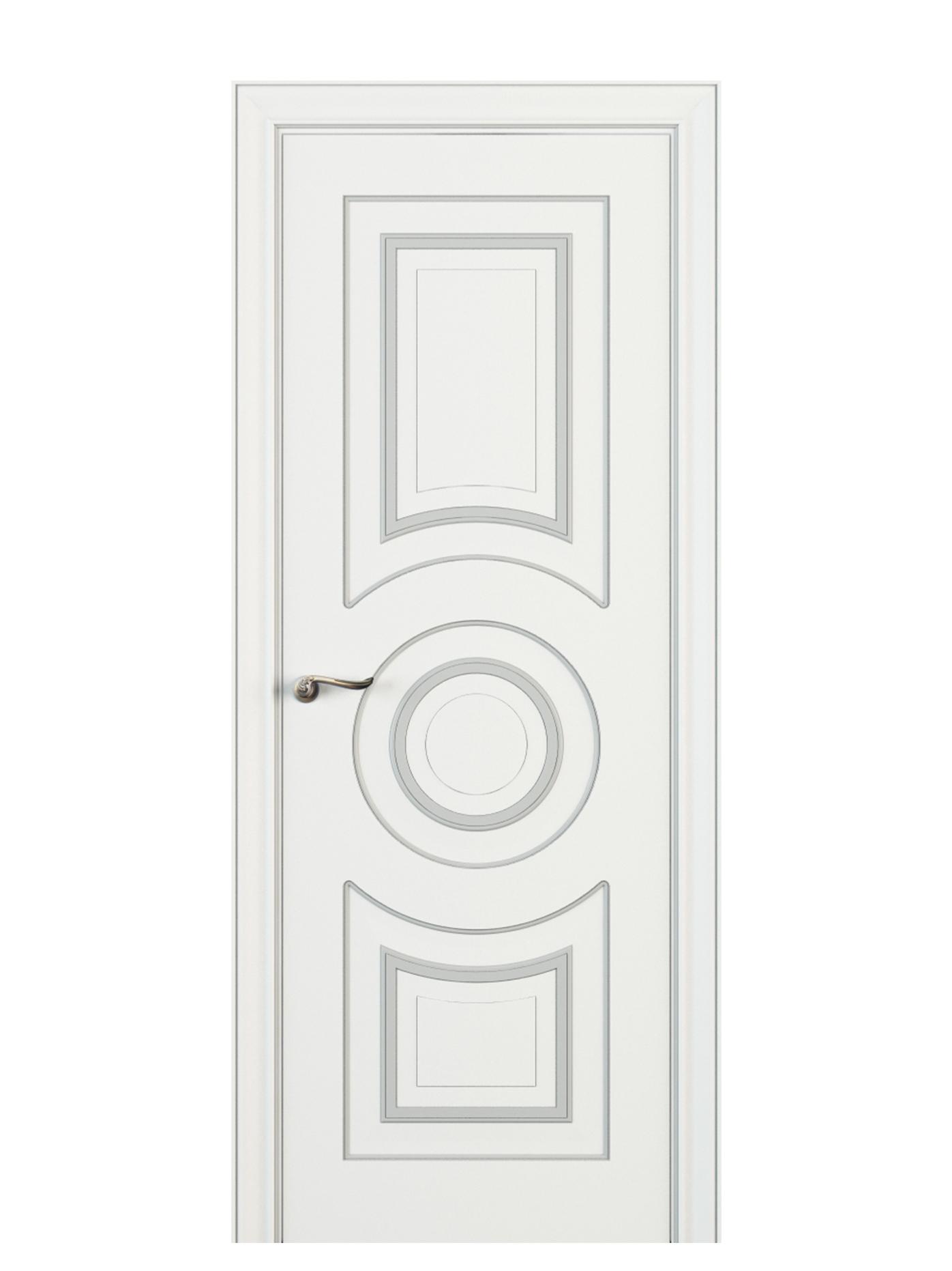 Image Viola Interior Door Italian Enamel White 0