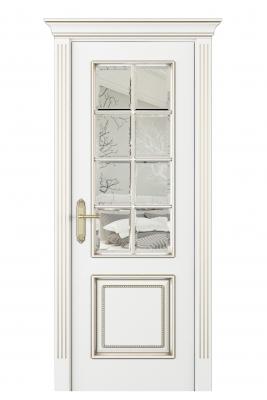 Image Parma Parte Interior Door Italian Enamel White Beveled Glass 1