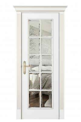 Image Parma Interior Door Italian Enamel White Beveled Glass 1