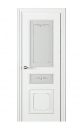 Image Fabrizia Vetro Duo Interior Door Italian Enamel White 1