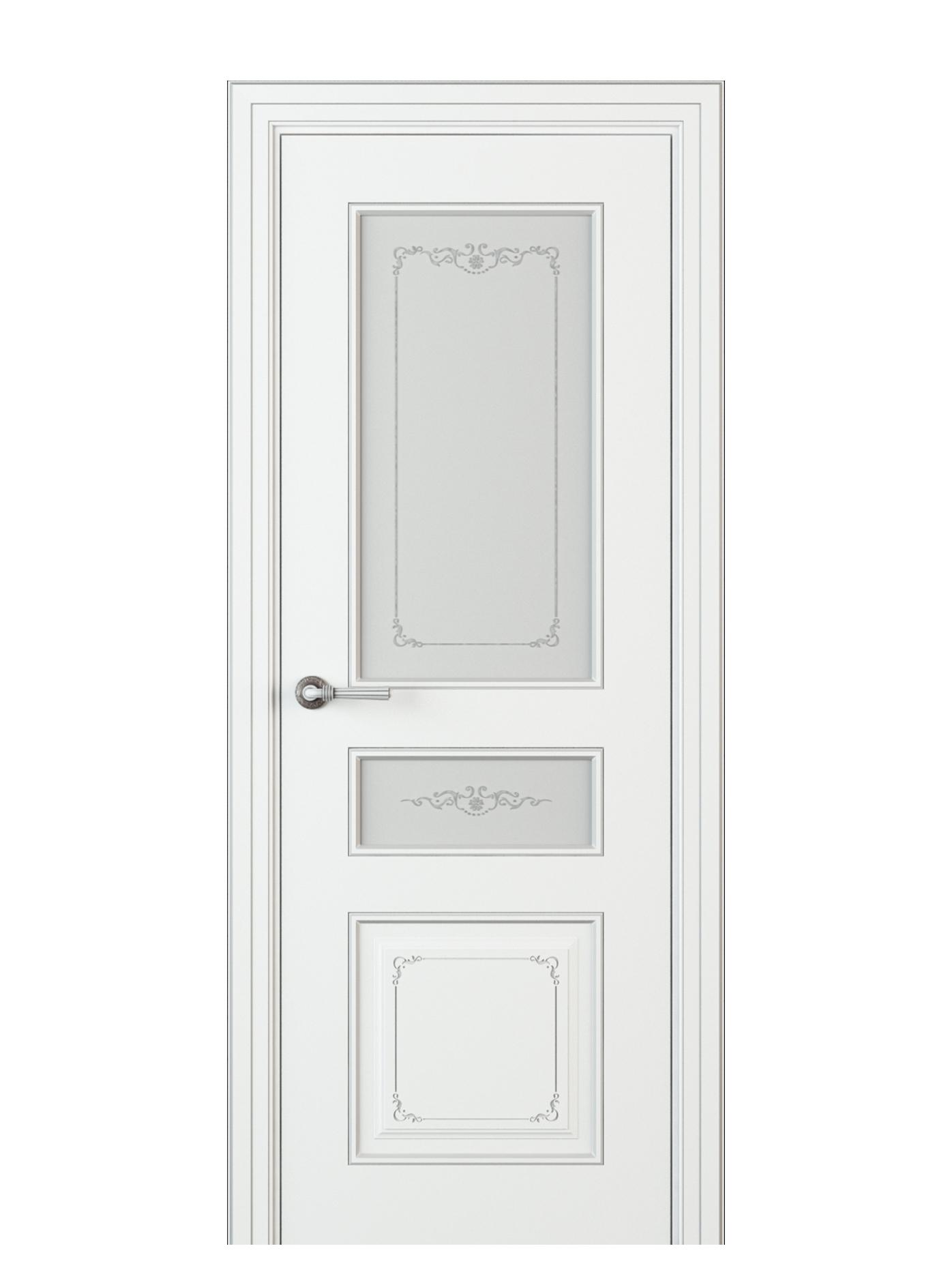 Image Fabrizia Vetro Duo Interior Door Italian Enamel White 0