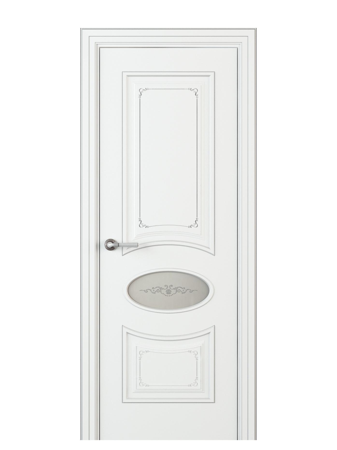 Image Amelia Incerto Interior Door Italian Enamel White 0