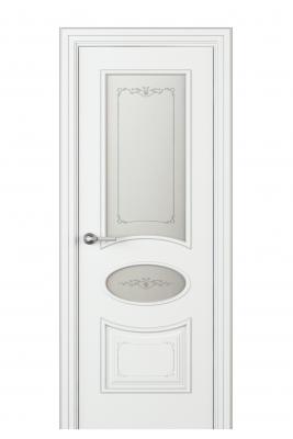 Image Amelia Vetro Duo Interior Door Italian Enamel White 1