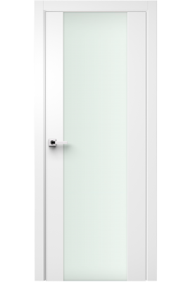 Image Vetra Interior Door Soft Touch White/ Frosted Glass 1
