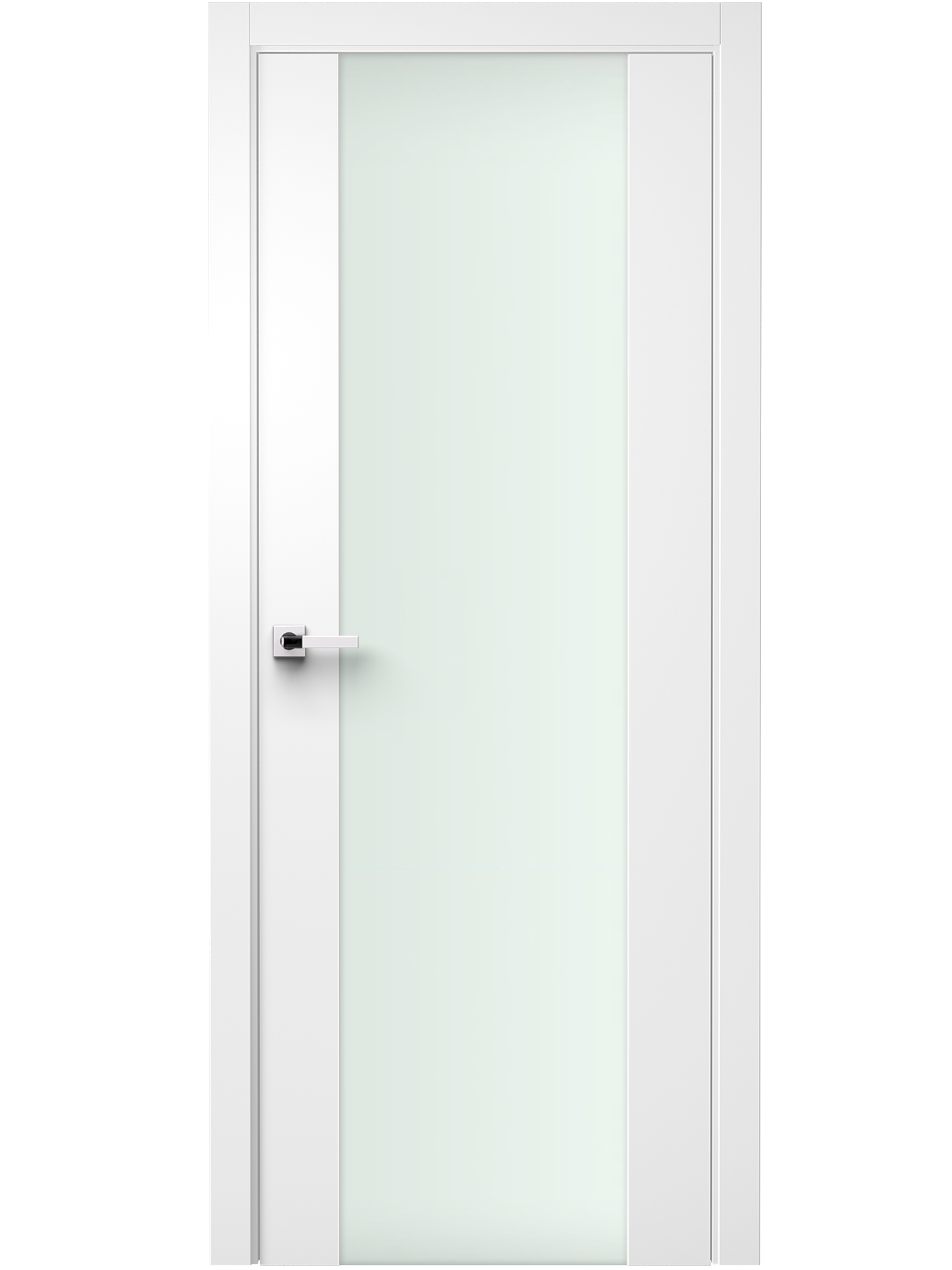 Image Vetra Interior Door Soft Touch White/ Frosted Glass 0