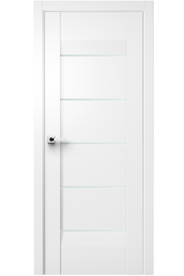 Image Forta Interior Door Soft Touch White/ Frosted Glass 1