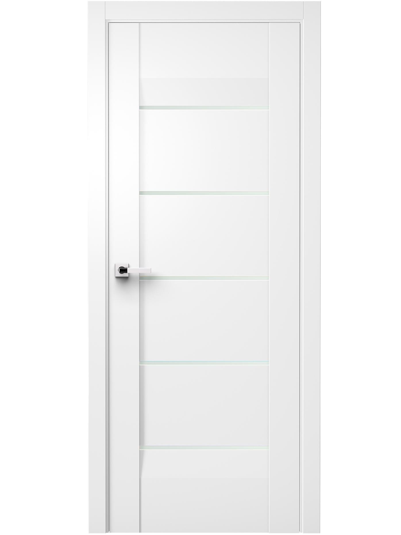 Image Forta Interior Door Soft Touch White/ Frosted Glass 0