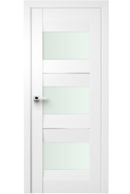 Image Fiera Interior Door Soft Touch White/ Frosted Glass 1