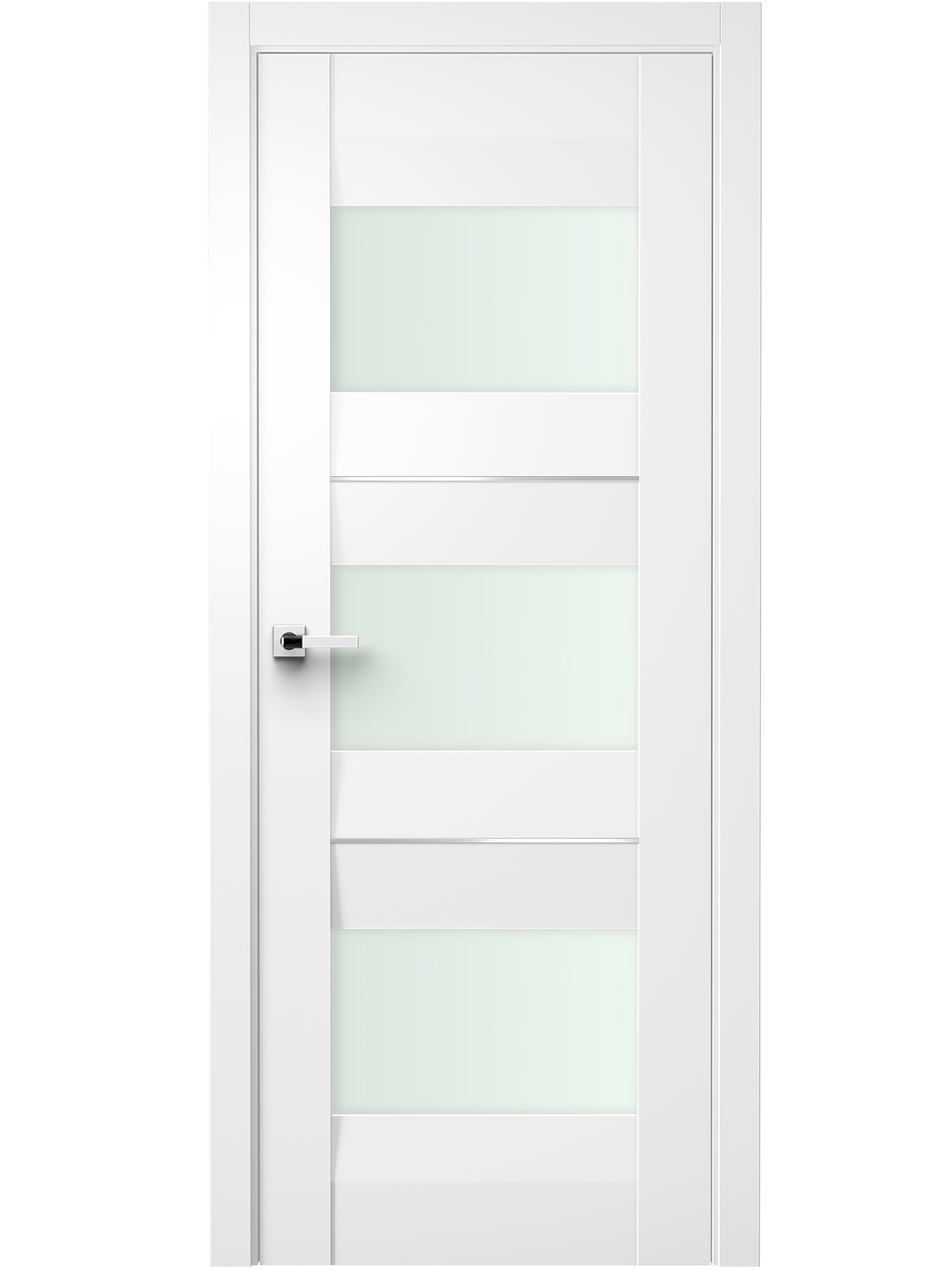 Image Fiera Interior Door Soft Touch White/ Frosted Glass 0