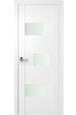 Image Fortika Vetro Interior Door Soft Touch White/ Frosted Glass 1