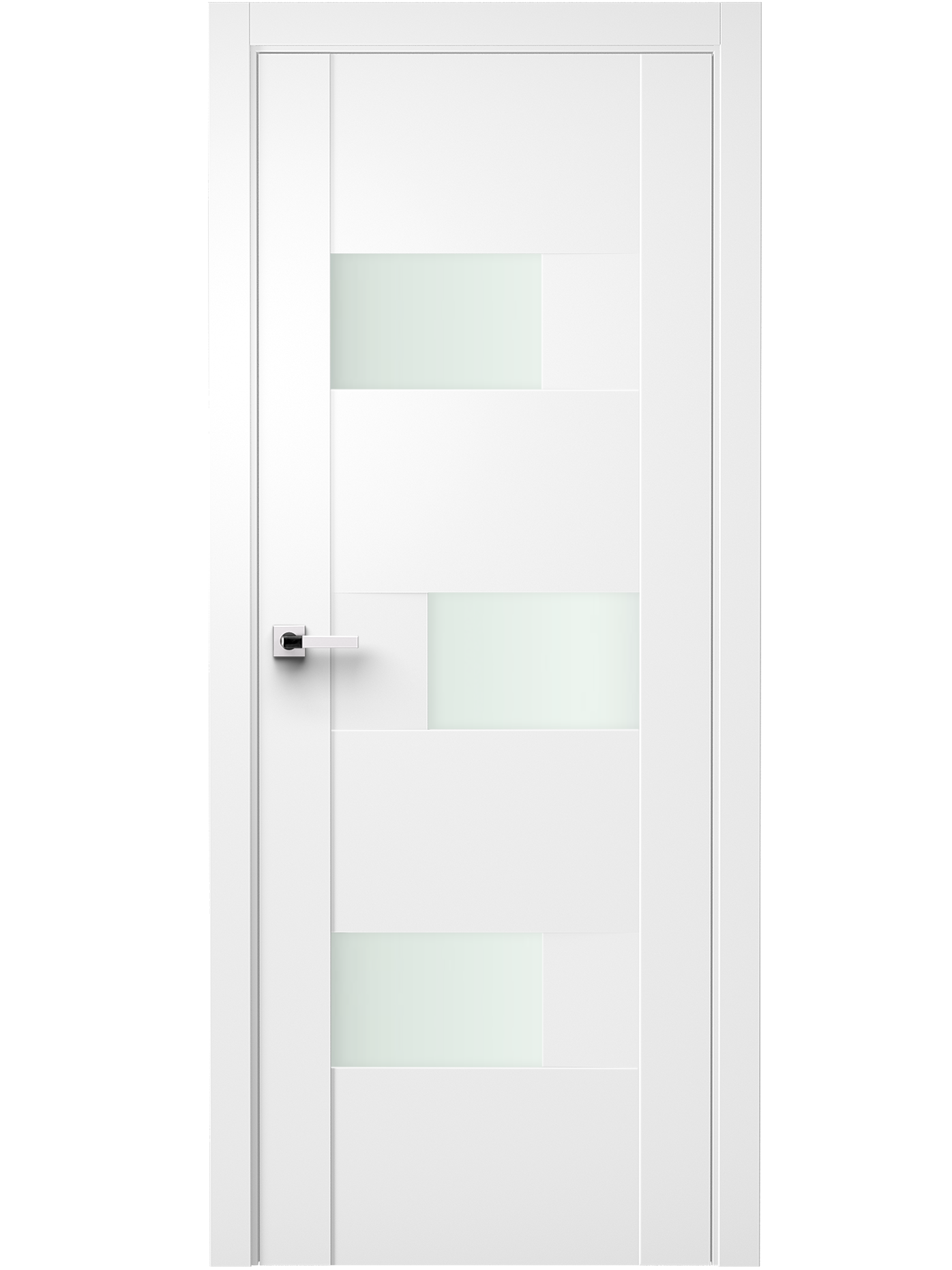 Image Fortika Vetro Interior Door Soft Touch White/ Frosted Glass 0