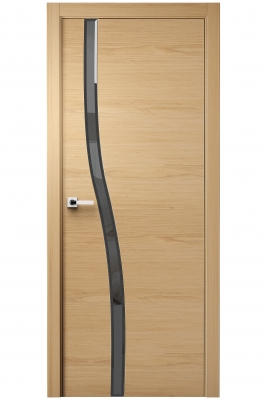Image Carmenta Vetro Interior Door American Walnut Stained 2