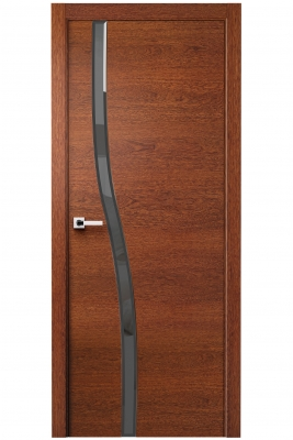 Image Carmenta Vetro Interior Door American Walnut Stained 4