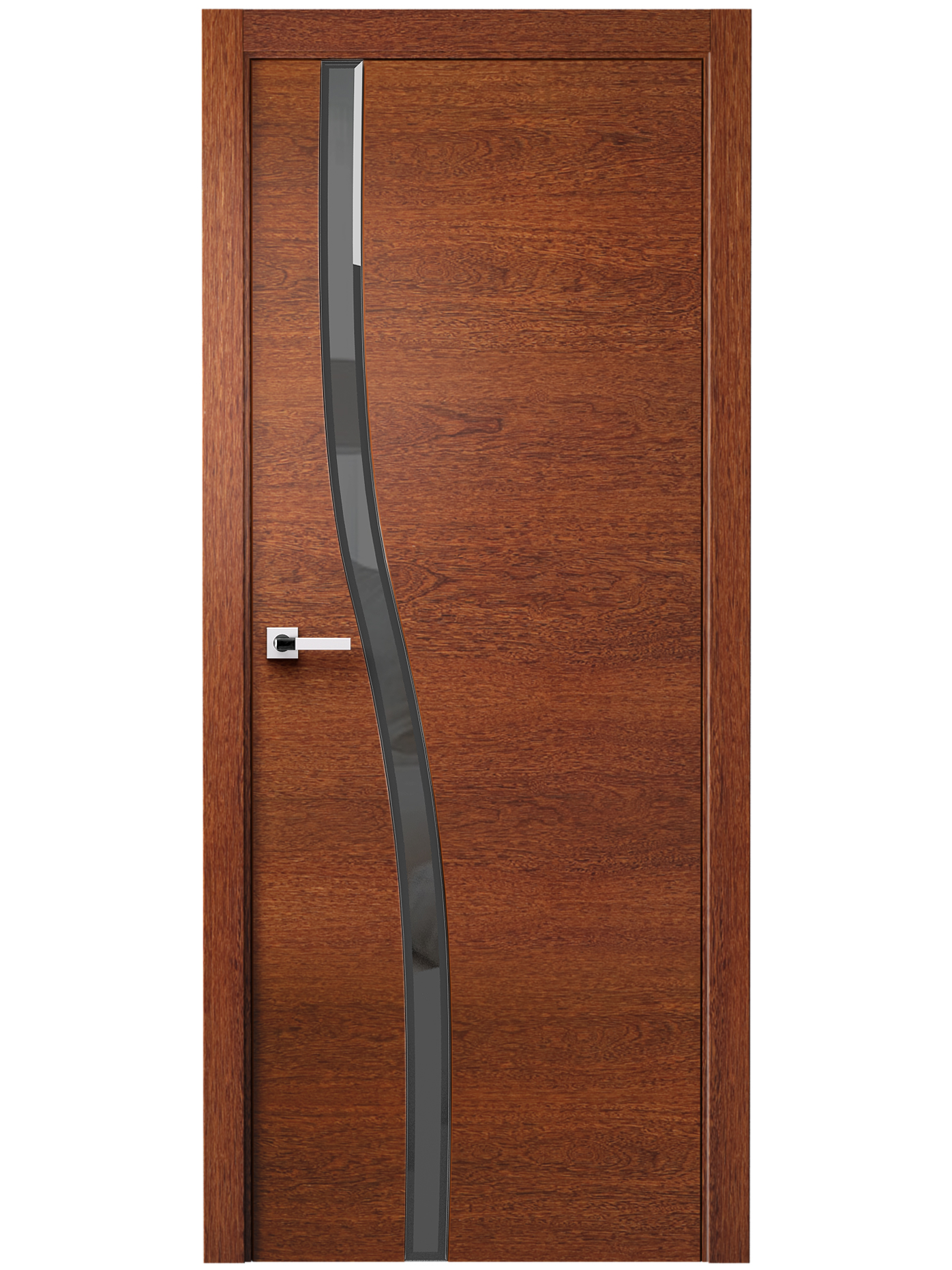 Image Carmenta Vetro Interior Door American Walnut Stained 3