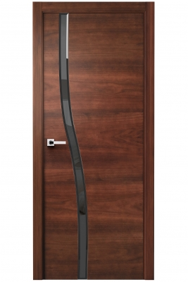 Image Carmenta Vetro Interior Door American Walnut Stained 1