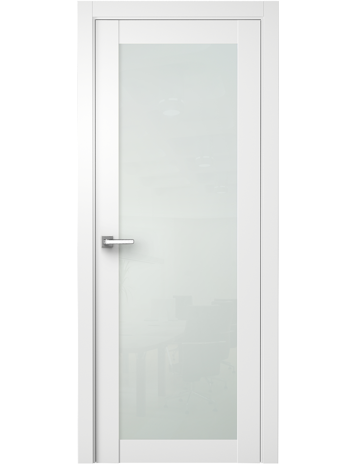 Image Nedovento Interior Door Polar White/ White Triplex Glass 0