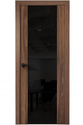 Image Vento Interior Door American Walnut/ Black Triplex Glass 2