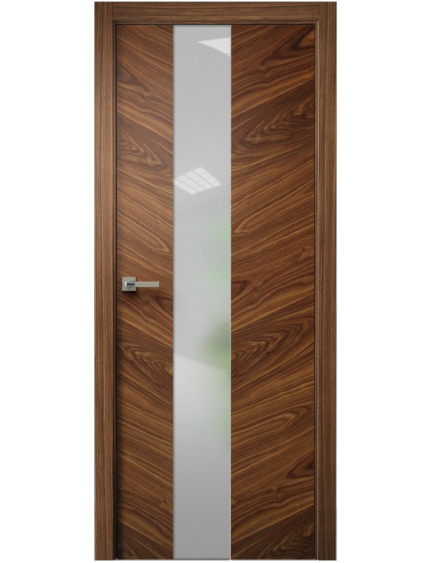 Image Tera V Vetro Interior Door American Walnut 0