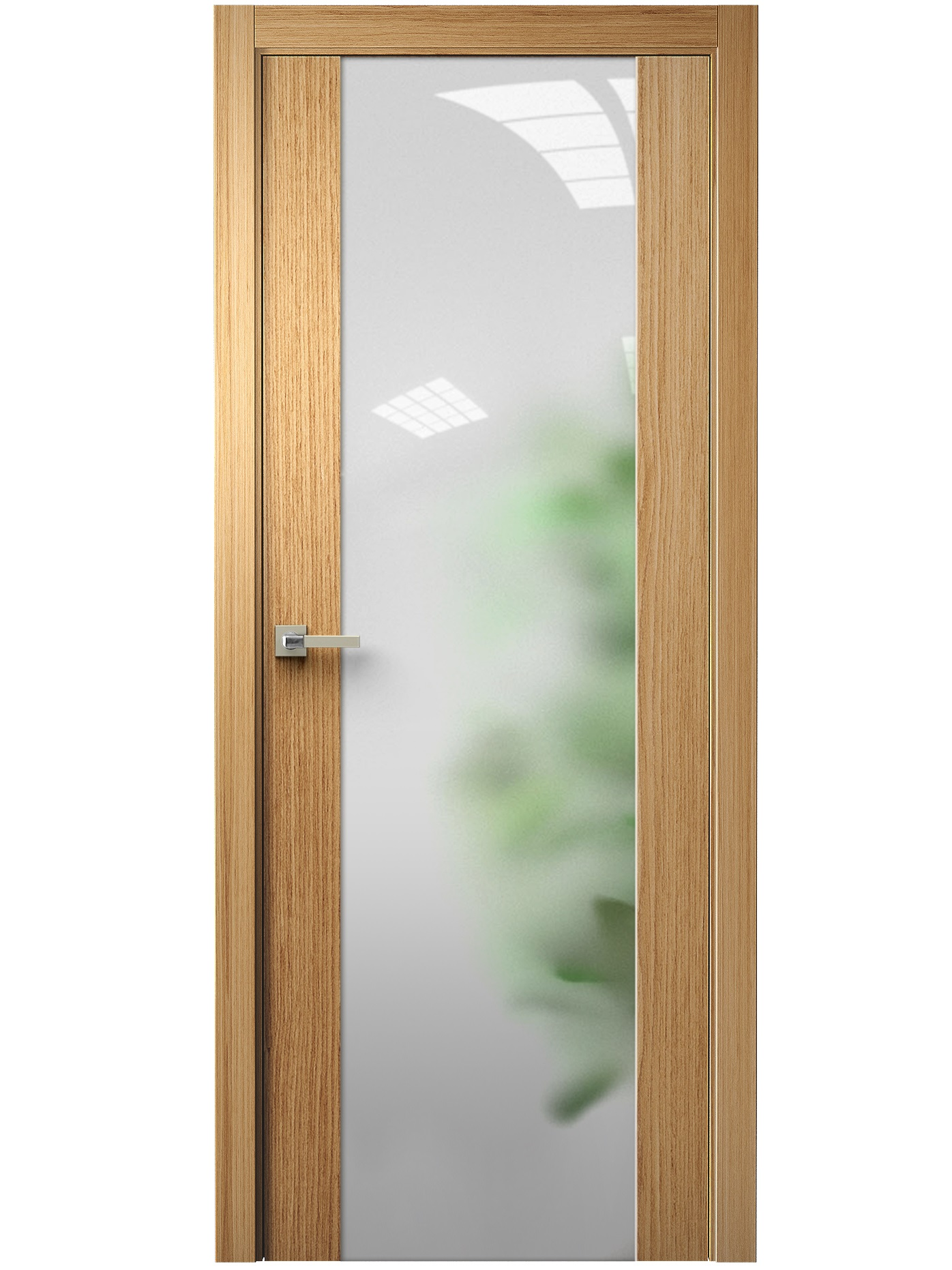 Image Vetra Interior Door Natural Oak / Frosted Glass 0