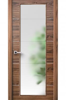 Image Versa Vetro Interior Door American Walnut 1